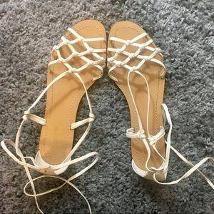 J. Crew Leather Lace Up Sandals